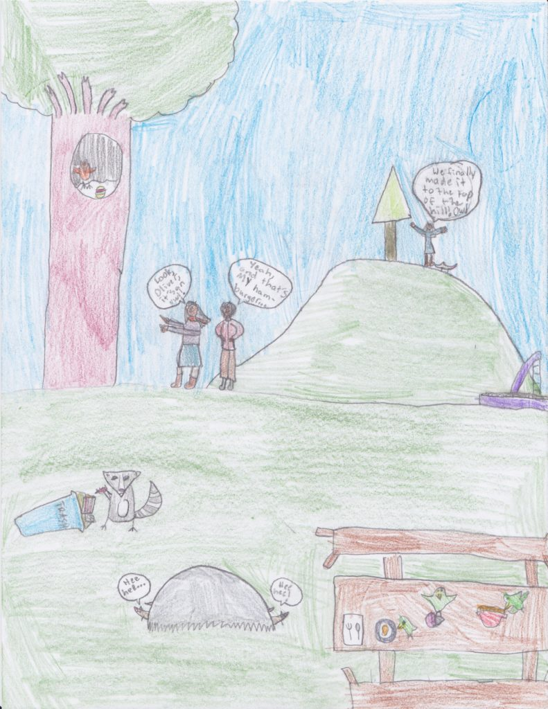 """Kids Drawing """"Numerous rodent sightings by Patrons"""""""